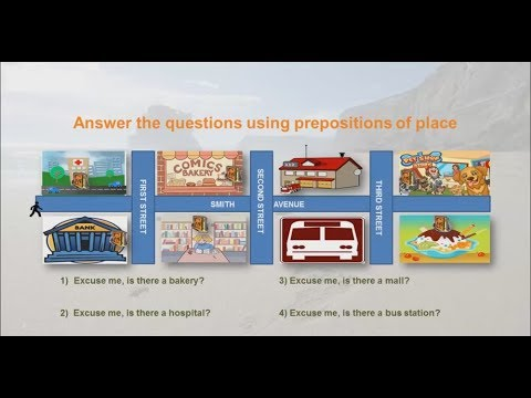 English Language Vocabulary Lesson - 4 Asking for and Giving directions