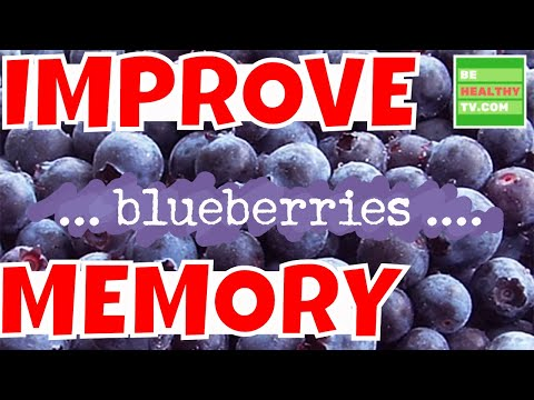 IMPROVE MEMORY Improve Memory and Overall Brain Activity by Eating Blueberries