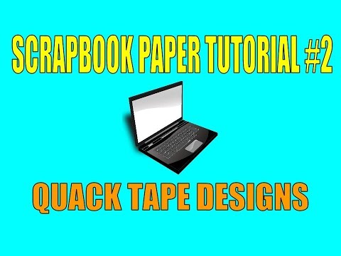 How to print your own scrapbook paper with text (Scrapbook paper tutorial #2)