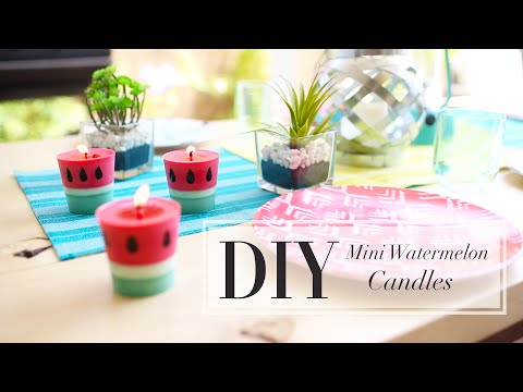 DIY Watermelon Candle | How To Make Candles | ANN LE