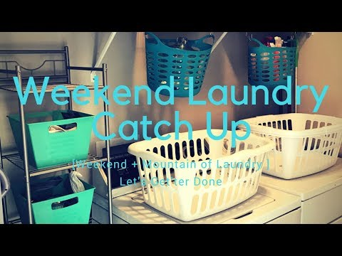 Mountain of Laundry || Weekend Laundry Catch Up