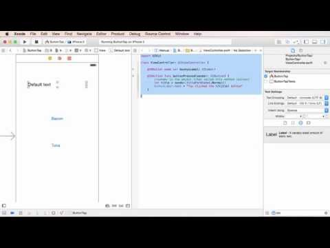 iOS Development with Swift Tutorial - 9 - Button Clicking Example