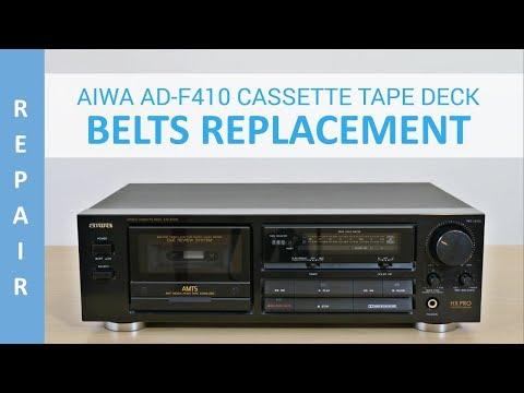 AIWA AD-F410 Cassette Deck Belts Replacement