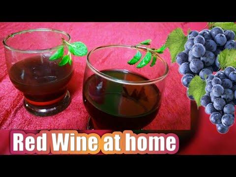 Red wine/Black Grape Wine Recipe   Healthy Homemade Red Wine