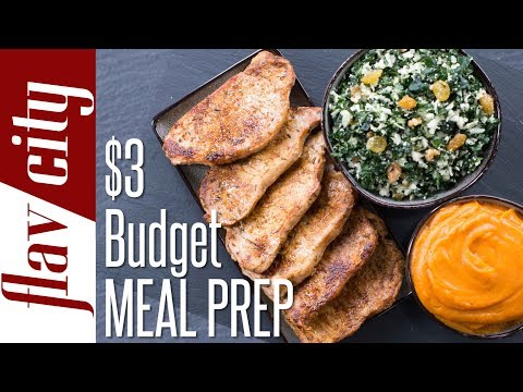 How To Eat Healthy On A Budget - $3 Budget Meal Prep