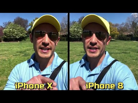 iPhone X vs iPhone 8: Video & Photo Comparison Review on Selfie Side