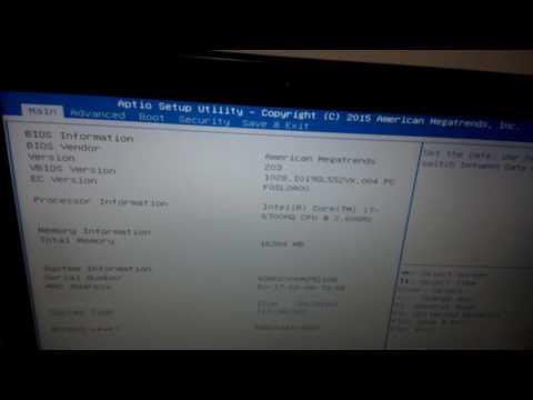 Asus ROG GL552VX - Setting Bios n Booting SSD - instal windows 10 - with flashdisk..