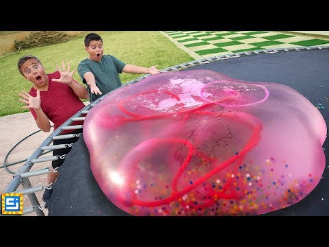 Giant Orbeez Water Balloon Snake Inside Giant Water Wubble Bubble!