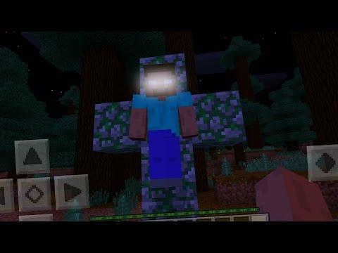 I FOUND Herobrine in Minecraft Pocket Edition (Herobrine Mod)
