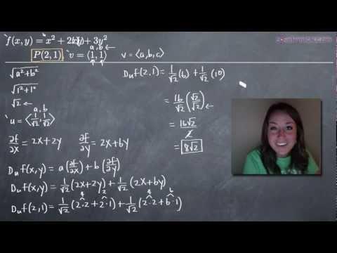 Directional Derivatives (KristaKingMath)