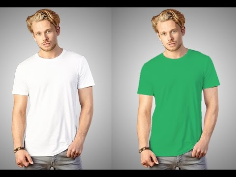 How To Change White T Shirt Color in Photoshop