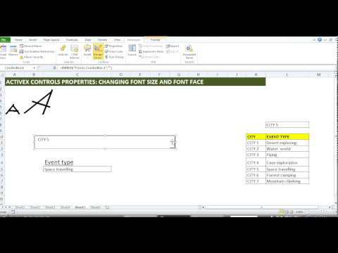 MS Excel ActiveX: How to change the font size & style in a combo box