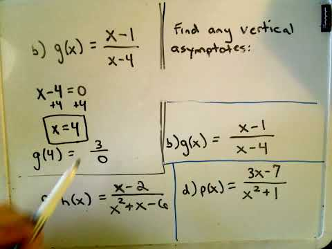Finding Vertical Asymptotes of Rational Functions