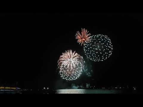 Canada Day 2016 Fireworks At HarbourFront Centre Toronto [4k]