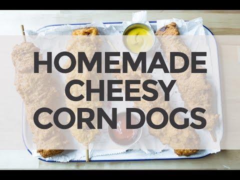 Homemade Cheesy Corn Dogs