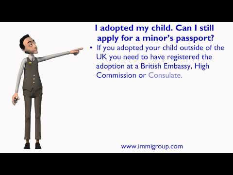 I adopted my child. Can I still apply for a minor's UK passport?