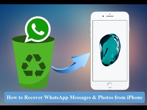 How to Recover Deleted WhatsApp Messages, WhatsApp Photos from iPhone 7 or iPhone 7 Plus