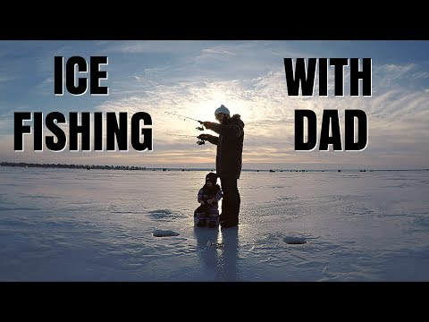 ICE FISHING WITH DAD!!!