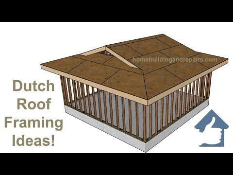 Dutch Roof Framing Ideas for Two-Car Garage Construction