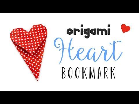 Origami Heart Bookmark Instructions ♥ DIY ♥︎ Valentine's Day ♥︎ Paper Kawaii