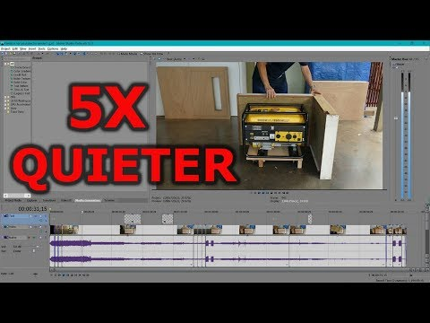 5x quieter generator or compressor sound reduction quiet box