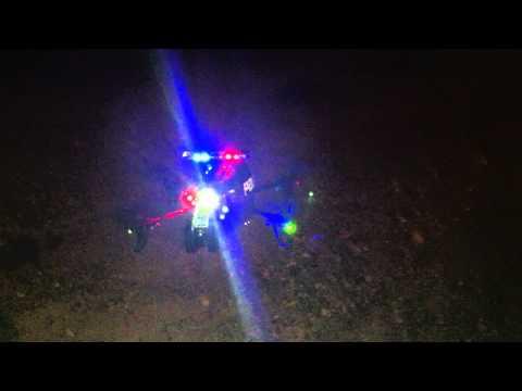 AR Drone POLICE MOD Finished! DX8 Night Flight!!