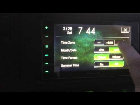 How To Change the Time on the Pioneer SPH-DA120 AppRadio 4