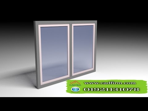 3D max window modeling + vray rendering  and lighting