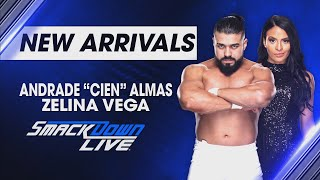 "Andrade ""Cien"" Almas & Zelina Vega have a message for Team Blue: SmackDown LIVE, April 17, 2018"