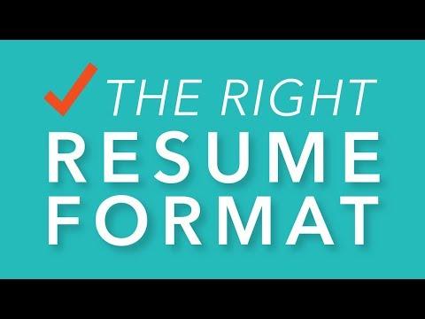 Choosing the Right Resume Format