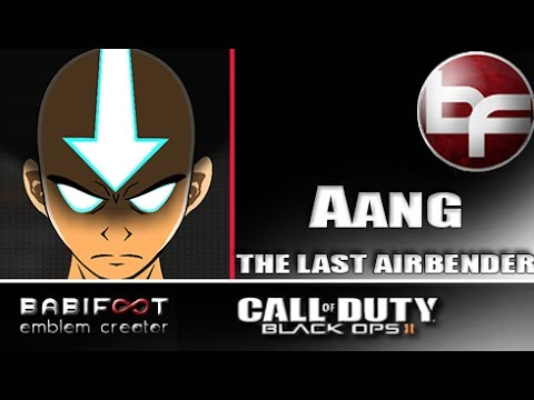 COD Black Ops 2 Emblem Tutorial - Aang The Last Airbender