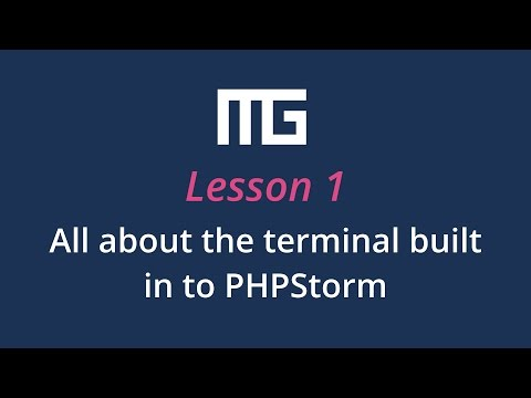 All about the terminal built in to PHPStorm