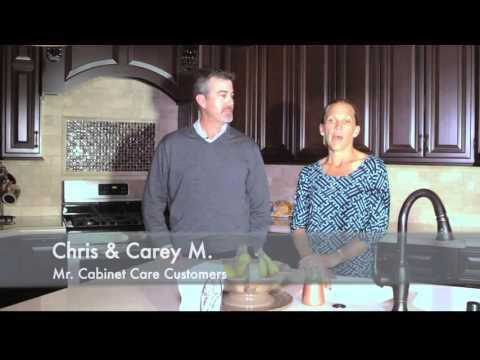 Chris & Carey testimonial A for Mr Cabinet Care