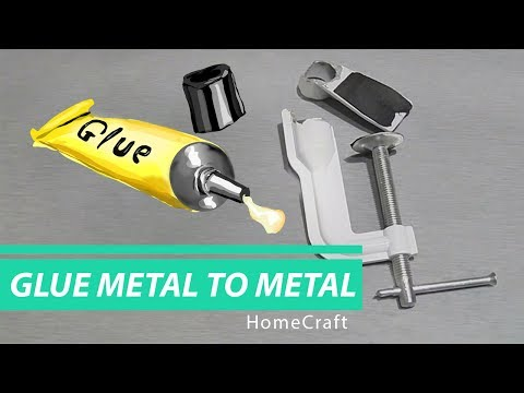 How to Glue Metal to Metal // HomeCraft