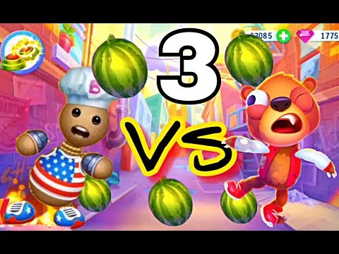 Despicable Bear VS Kick the Buddy Gameplay Walkthrough Part 3 - All Stuff Gold Weapons & Food (iOS)