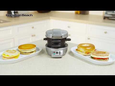 Hamilton Beach Breakfast Sandwich Maker with timer 25478