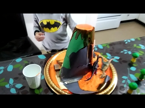 How to make a volcano with minimum and available at home tools