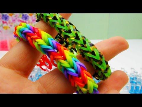 Dragonscale Fishtail Bracelet / Armband Rainbow Loom Dragon Scale Fishtail Anleitung | deutsch