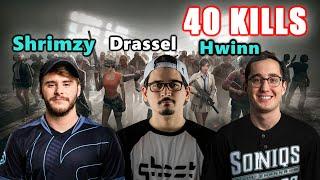 Soniqs Shrimzy, Hwinn & Drassel - 40 KILLS - AUG + M24 - SQUAD - PUBG