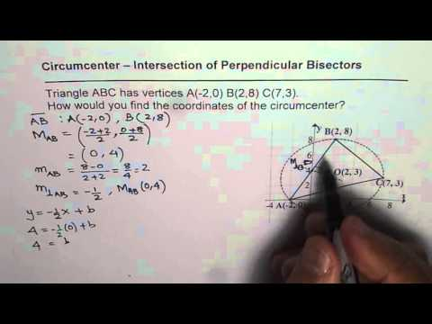 How to Find Circumcenter Perpendicular Bisector Intersection of a Triangle