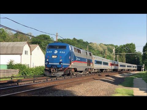 Metro-North Railroad HD 60fps: GE P32AC-DM & Budd M3A Trains @ Kensico Cemetery (5/29/18)