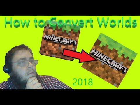 How to convert MC-PE worlds over to Minecraft Windows 10 (2018)