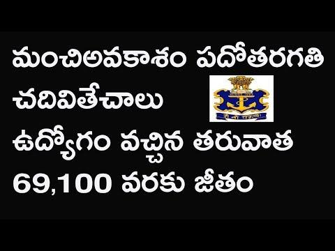 Navy jobs 2017 || indian navy job after 10th || navy job news telugu