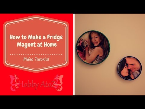 DIY tutorial:Fridge Magnet at Home using bottle caps. A personalized magnet photo frame for home