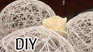 DIY. Декор интерьера. Шарики из ниток - украшение на Новый год.