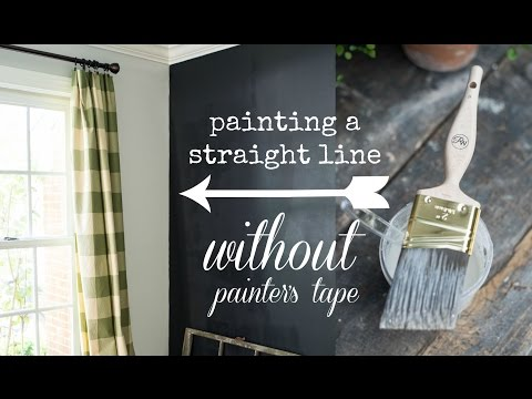 How to paint a straight line (WITHOUT painter's tape!)