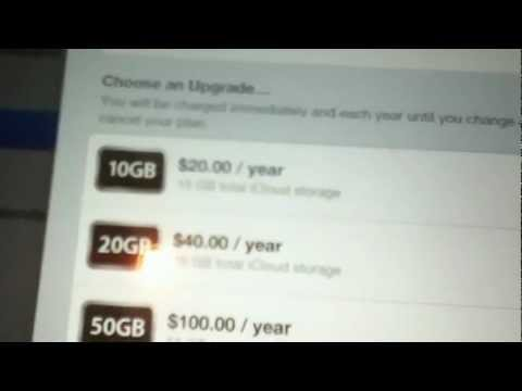 How to purchase storage for iCloud
