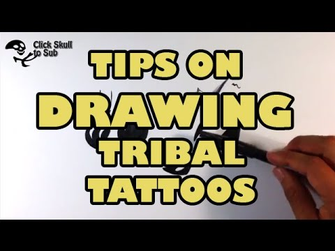 Tips of Drawing a Tribal Tattoo Design - Skull Drawings