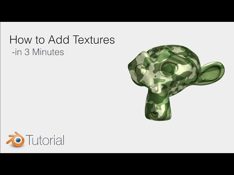 Blender Tutorial: How to Add Textures to Objects