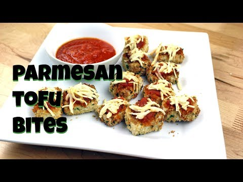 Parmesan Tofu Bites for Superbowl || Gretchen's Vegan Bakery